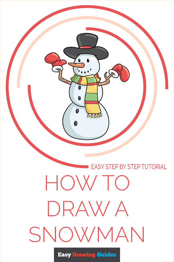 how to draw a snowman pinterest image
