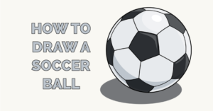 how to draw a soccer ball featured image
