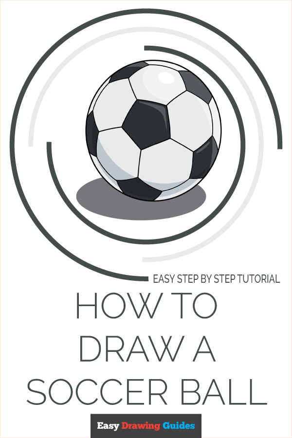 how to draw a soccer ball pinterest image