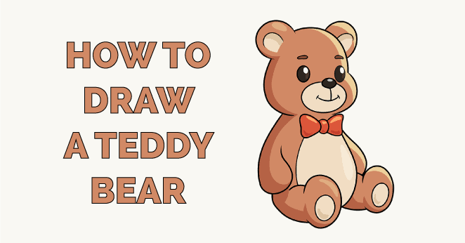 how to draw a teddy bear featured image