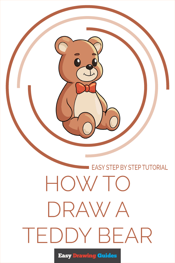 how to draw a teddy bear pinterest image