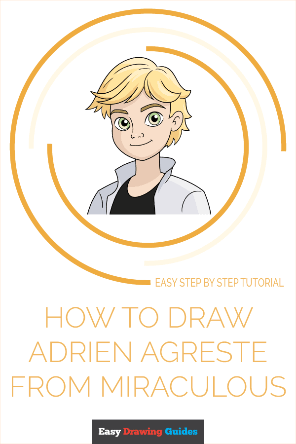 how to draw adrien agreste from miraculous pinterest image