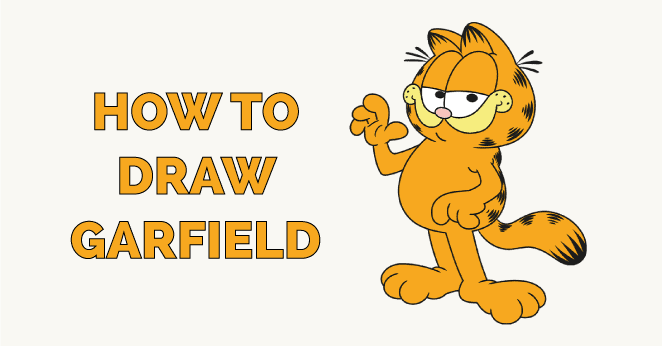 how to draw garfield featured image