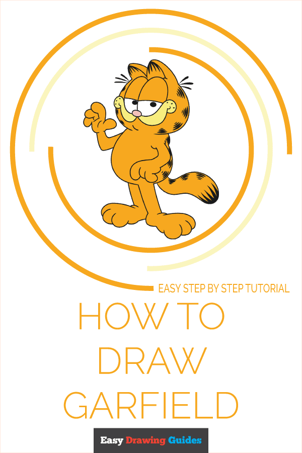 how to draw garfield pinterest image