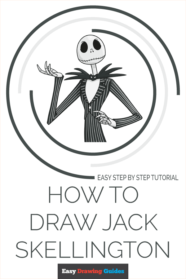 how to draw jack skellington from the nightmare before christmas pinterest image