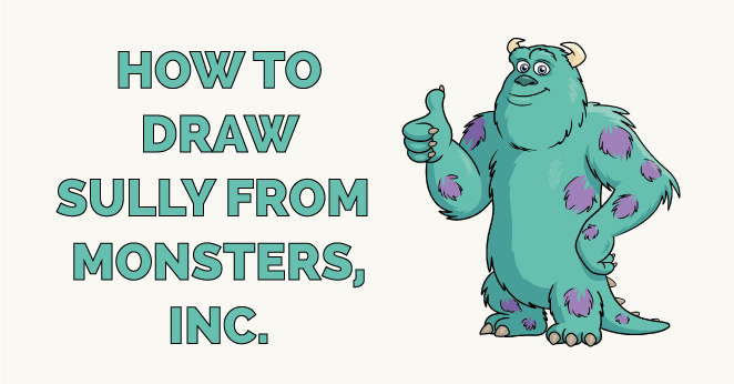 How to Draw Sully from Monsters, Inc. Featured Image