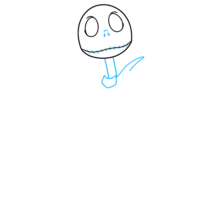 jack skellington from the nightmare before christmas step-by-step drawing tutorial: step 02