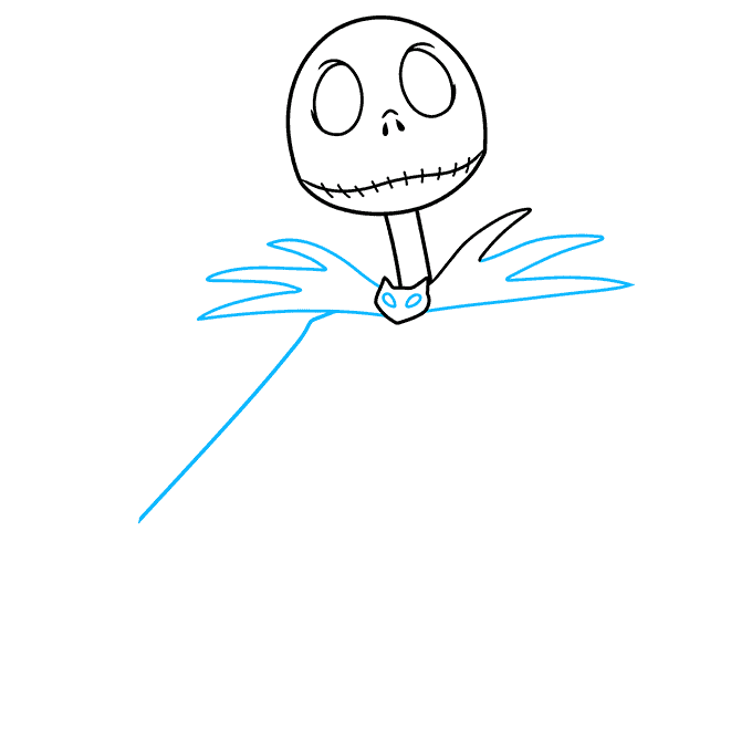 jack skellington from the nightmare before christmas step-by-step drawing tutorial: step 03