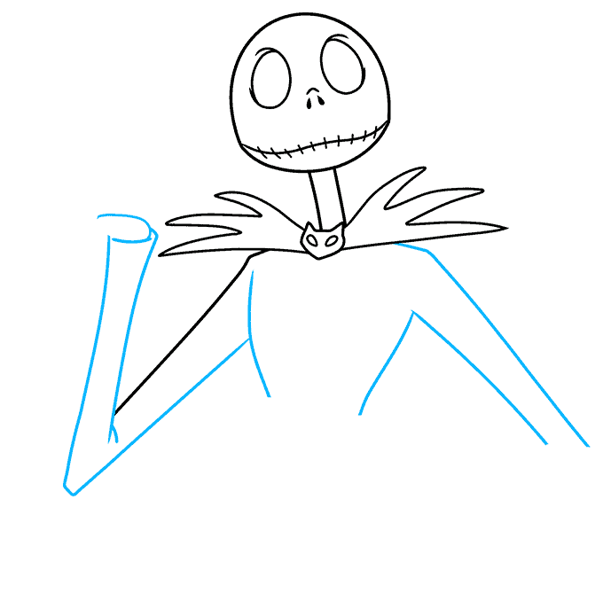 jack skellington from the nightmare before christmas step-by-step drawing tutorial: step 04