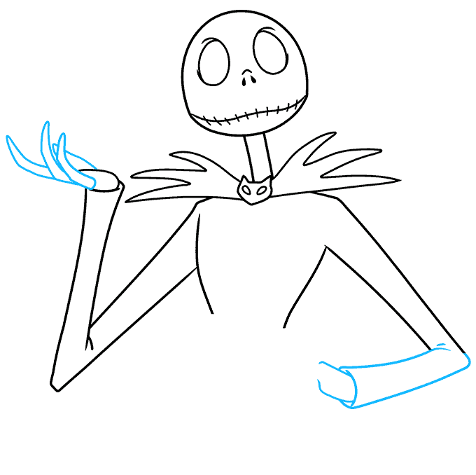 jack skellington from the nightmare before christmas step-by-step drawing tutorial: step 05
