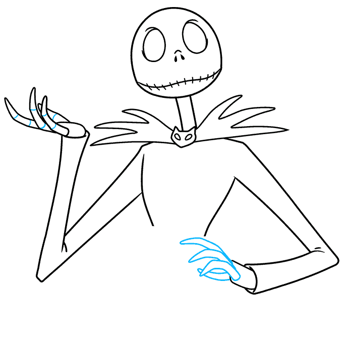 jack skellington from the nightmare before christmas step-by-step drawing tutorial: step 06