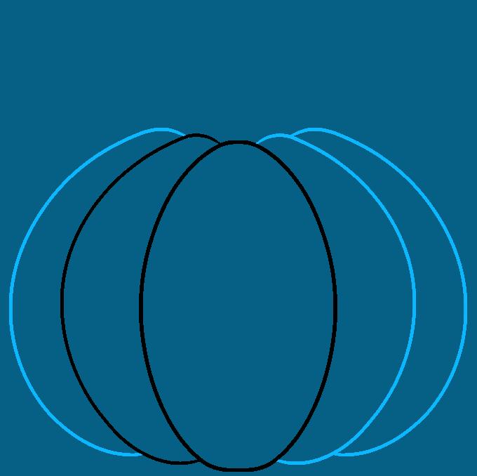 pumpkin step-by-step drawing tutorial: step 02