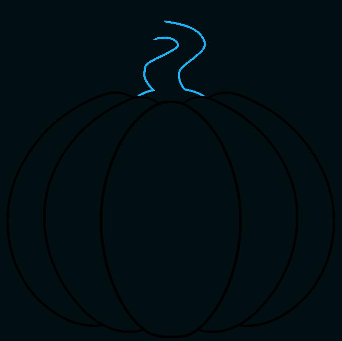 pumpkin step-by-step drawing tutorial: step 03