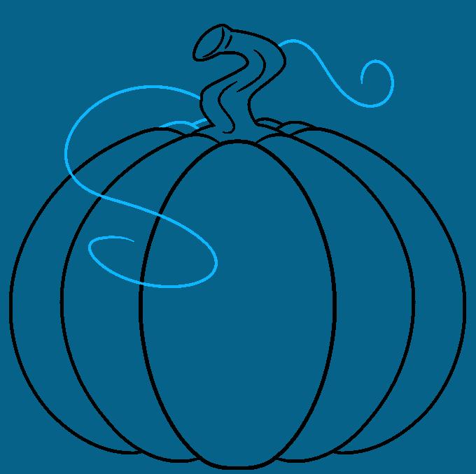 pumpkin step-by-step drawing tutorial: step 05