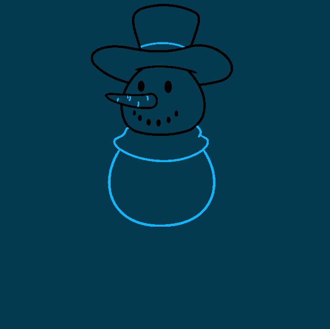 snowman step-by-step drawing tutorial: step 03