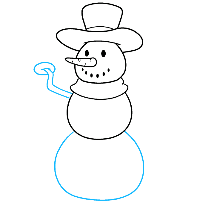 snowman step-by-step drawing tutorial: step 04