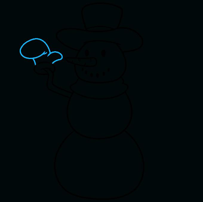 snowman step-by-step drawing tutorial: step 05