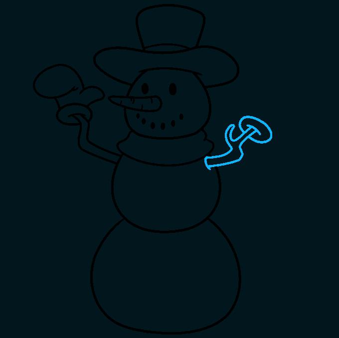 snowman step-by-step drawing tutorial: step 06