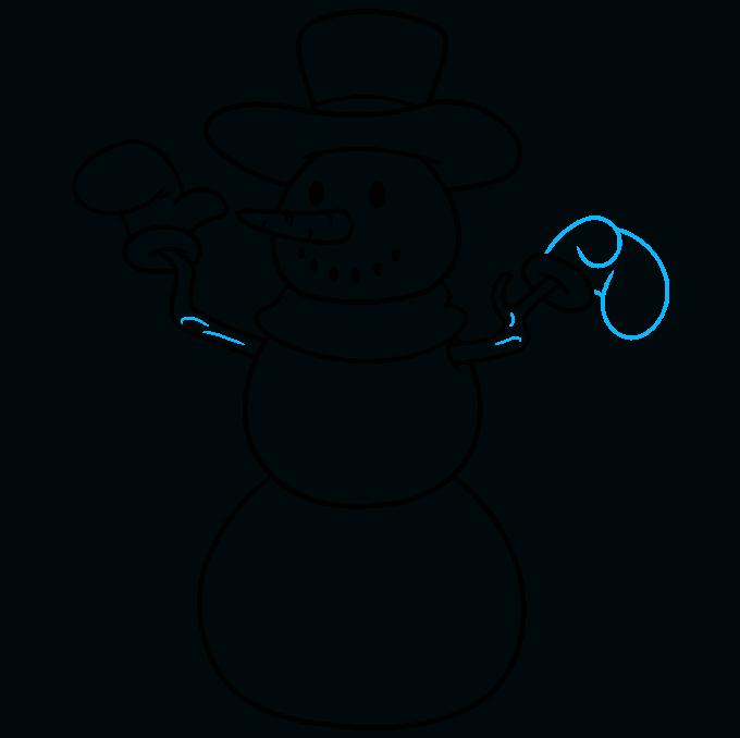 snowman step-by-step drawing tutorial: step 07