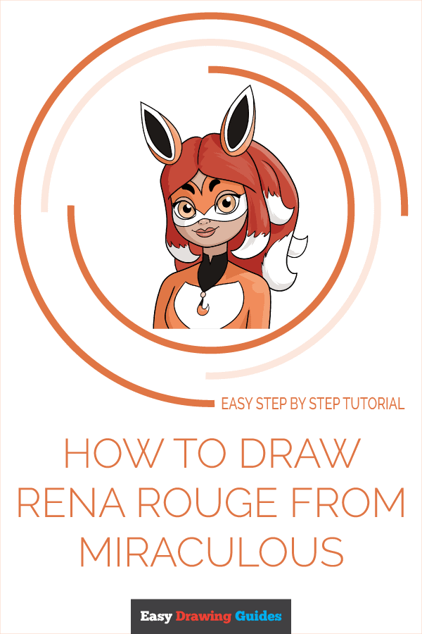 how to draw rena rouge from miraculous pinterest image
